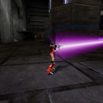 Firing the Portable Ion Cannon in third person